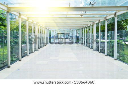 Modern corridor in the office. - stock photo