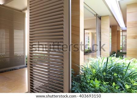 modern corridor interior - stock photo