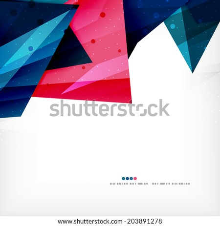 Modern 3d abstract shapes on white layout. Abstract background