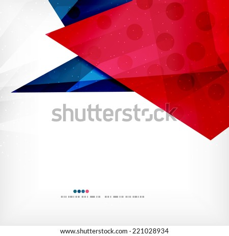 Modern 3d abstract shapes on white layout. Abstract background - stock photo