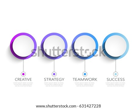 Modern 3D Infographic Template 3 Steps Stock Vector 561114721