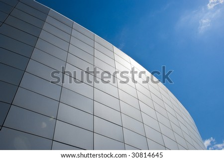 modern design building with sun effect