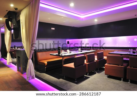 modern design club restaurant bar indoors