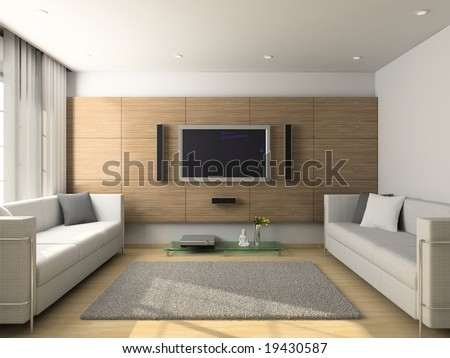 Living Room 3d Design hotel room tv stock images, royalty-free images & vectors
