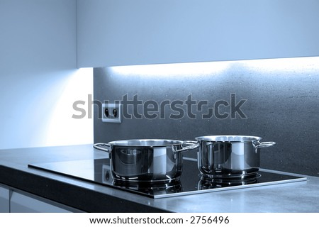 Modern design kitchen - stock photo