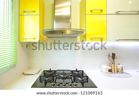 Modern Design Kitchen With Yellow And Green Elements Part 66