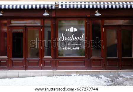 Modern Design Of Seafood Restaurant Exterior