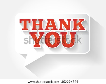Modern Design Speech Bubble Thank You, business concept flat style background - stock photo