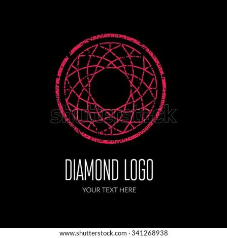 Modern diamond logo -  colorful design - stock photo