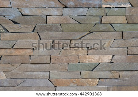 Modern different colored brick wall for pattern - stock photo