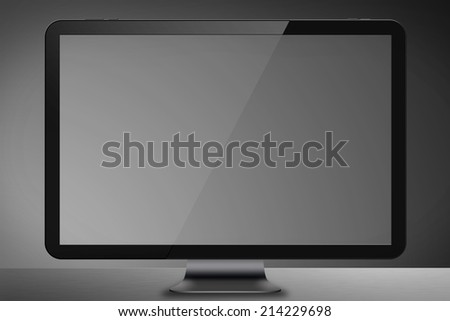 Modern digital computer screen on colorful background
