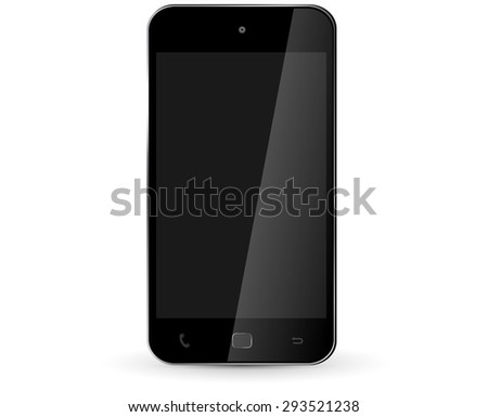 Modern digital smart phone on white background