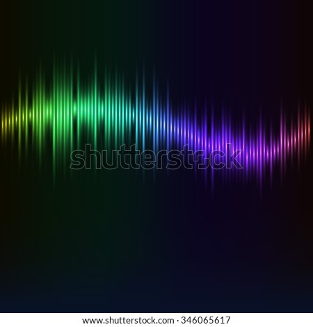modern digital wave as a rainbow. Abstract illustration of an equalizer with light effects