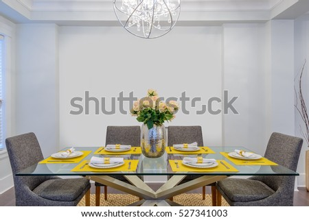 Modern dining room in luxury house.