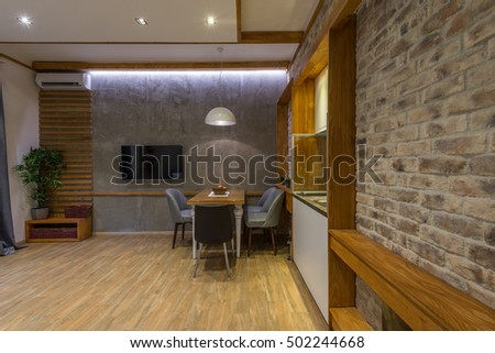 Blue Contemporary Dining White Stock Photos, Royalty-Free Images