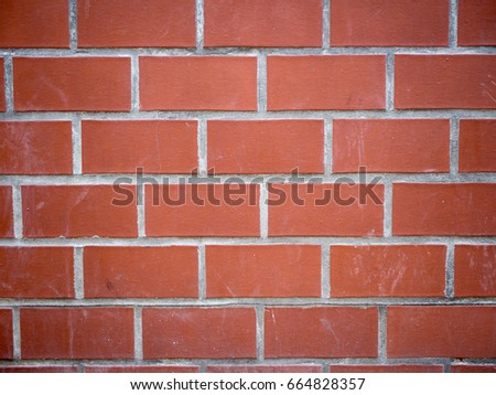 Modern Dirty Red Brick Wall, Background Texture