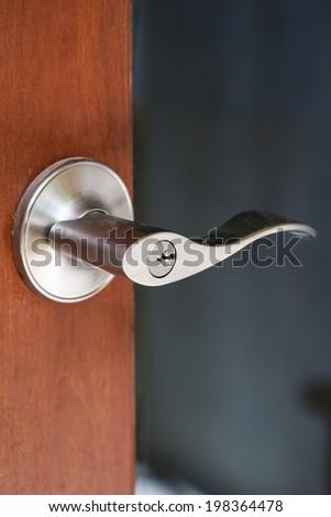 Modern door handle - stock photo
