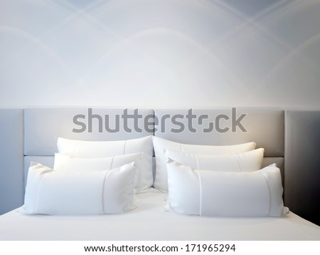 modern double bedroom - stock photo