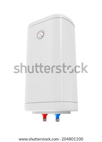 Modern Electric Water Heater isolated on white background - stock photo
