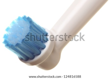modern electrical toothbrush isolated on white background Heads electric - stock photo