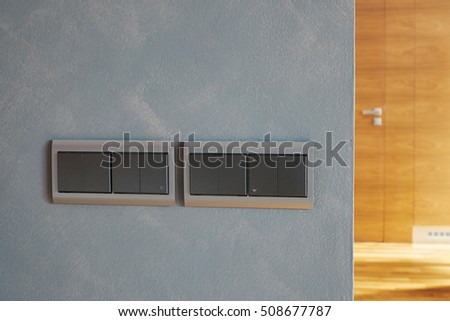 Modern Electrical Wall Switch