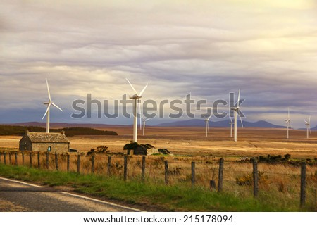 Modern Electrical windmill - stock photo