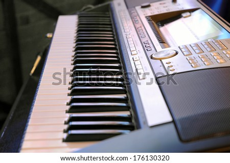 Modern Electronic piano  - stock photo