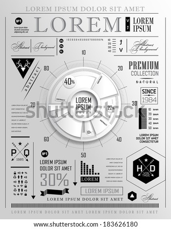 Modern elements of info graphics - stock photo
