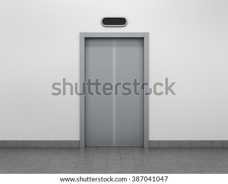 Modern elevator or lift doors made of metal closed in building with lighting. & Lift Doors Stock Images Royalty-Free Images u0026 Vectors | Shutterstock pezcame.com