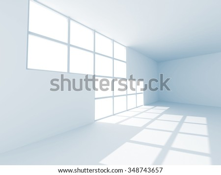 Modern Empty Room Interior Background. 3d Render Illustration
