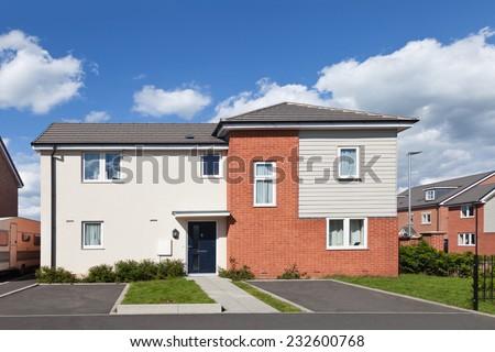 Modern english house  - stock photo