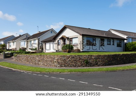 Modern English Houses - stock photo