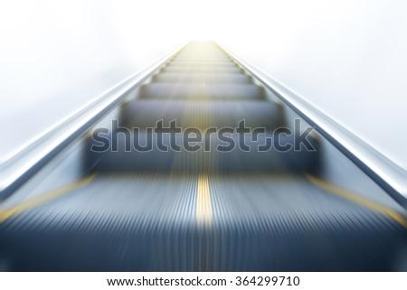 modern escalator - stock photo
