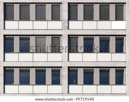 Modern European office building seamless wall texture - stock photo