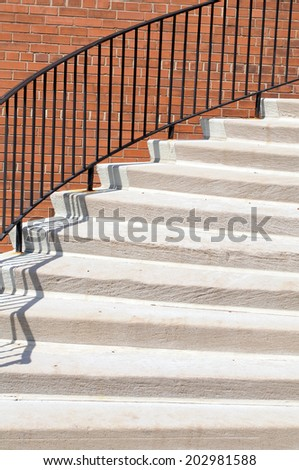 modern exterior stair  on day time