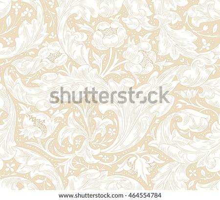 modern seamless floral pattern interior decoration stock