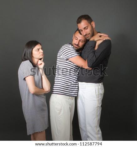 modern family - stock photo
