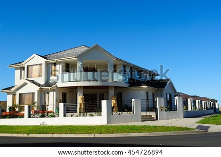 Modern family home, Melbourne, Australia - stock photo