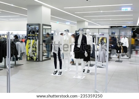 modern fashion shopfront view - stock photo