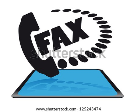 Modern fax icon - stock photo