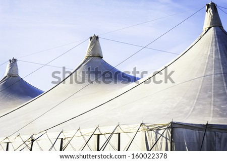 modern festival tent - close up