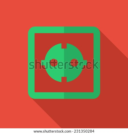 Modern flat design concept icon electrical outlet.  illustration. - stock photo