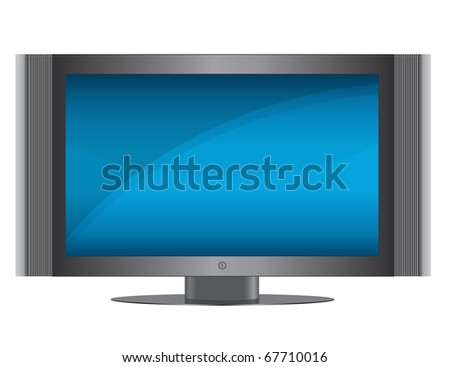 Modern Flat screen TV isolated over a white background. Vector EPS file is available. / TV Set
