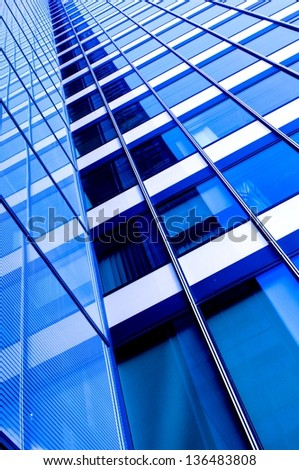 Modern Fronts of Glass and Steel - stock photo