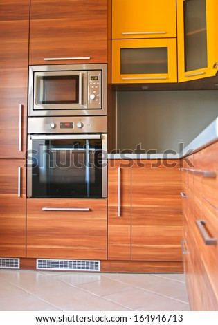 Modern furniture in the kitchen