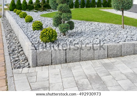 Modern garden stock images royalty free images vectors for Gartengestaltung logo