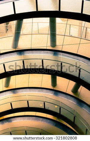Modern general architecture. Cosmocaixa Museum, Barcelona. - stock photo