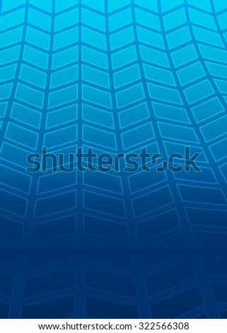 Modern geometrical blue background of bright glowing perspective with squares. Gorgeous graphic image template. Abstract  illustration 10 for backdrop your business card, layout leaflet - stock photo