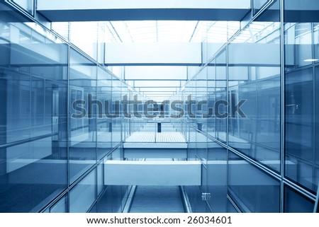 modern glass architecture - stock photo