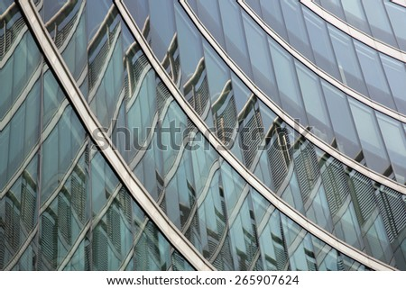 Modern Glass Architecture in Warsaw. Poland - stock photo